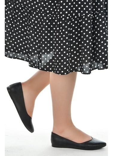 Ayakland Ayakland 1920-209 Günlük Anatomik Bayan Cilt Babet Ayakkabı Siyah
